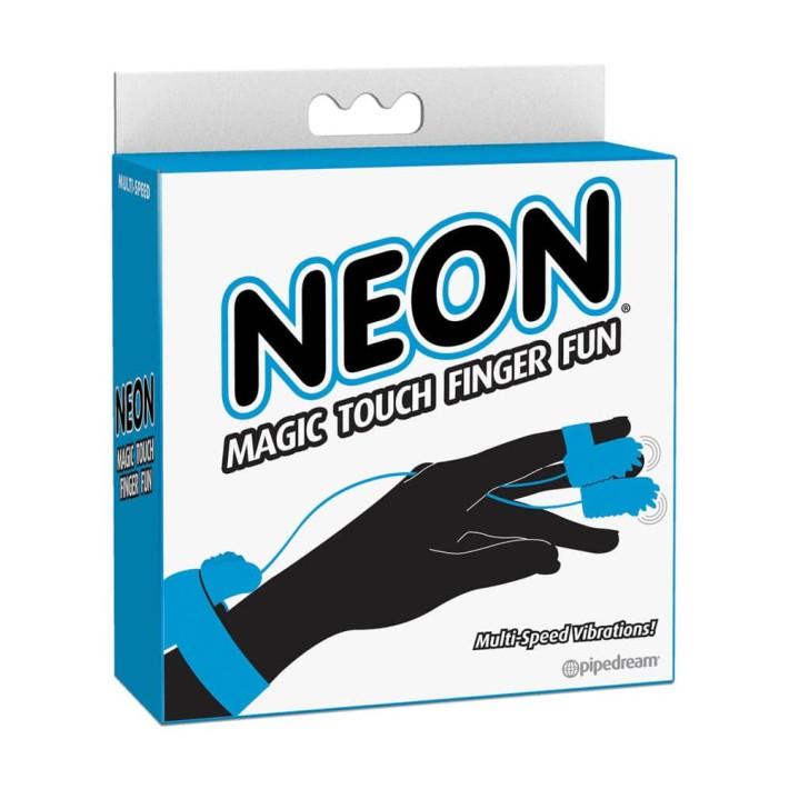 Degetar Neon Magic Touch Finger Fun, Turcoaz