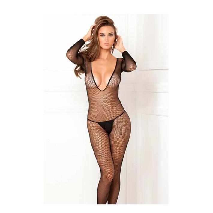 Bodystocking Tip Plasa Decupat Sexy Marime Universala