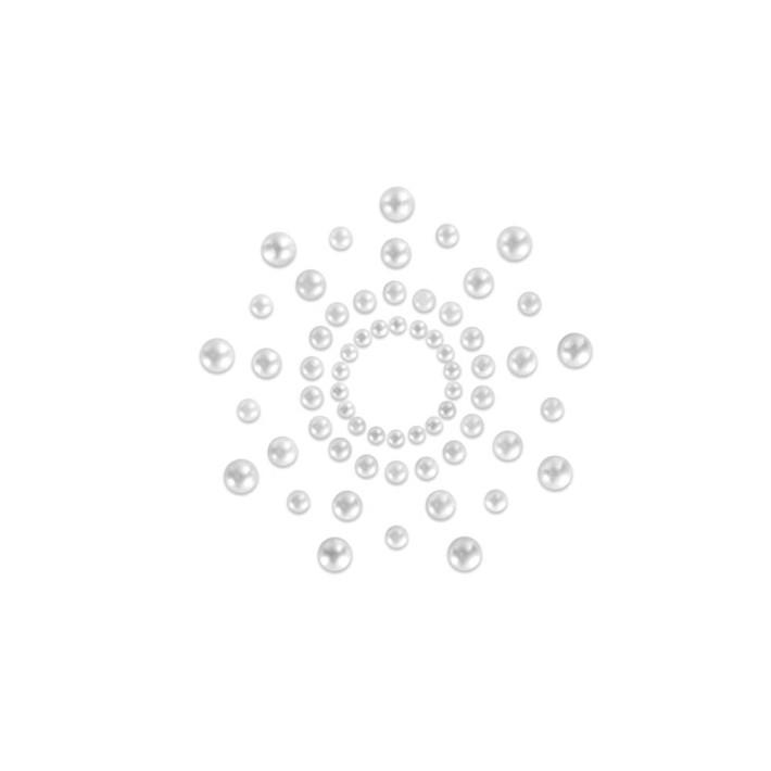 Bijuterii Intime Adezive Nipple Covers Mini Perle, Argintiu