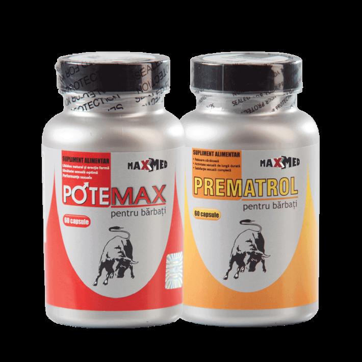 Potemax + Prematrol (60+60 Capsule) - Pastile Pentru Erectii Puternice Si De Lunga Durata