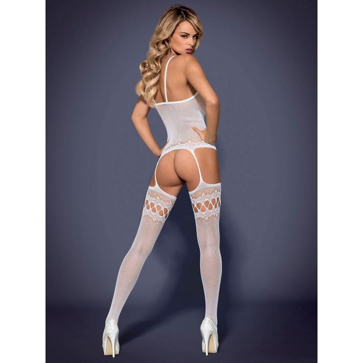 Catsuit / Body Stockings F214 - Alb S/m/l