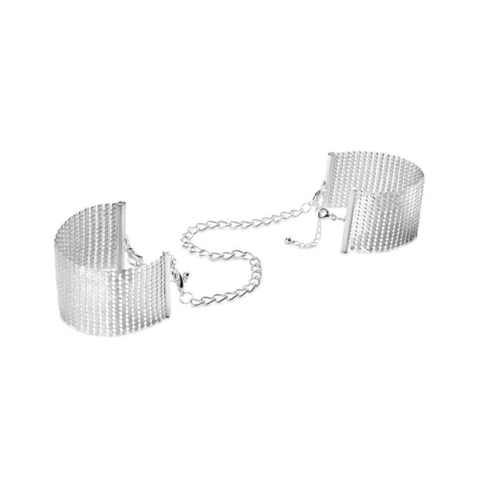 Catuse Cu Lant Désir Metallique, Argintiu