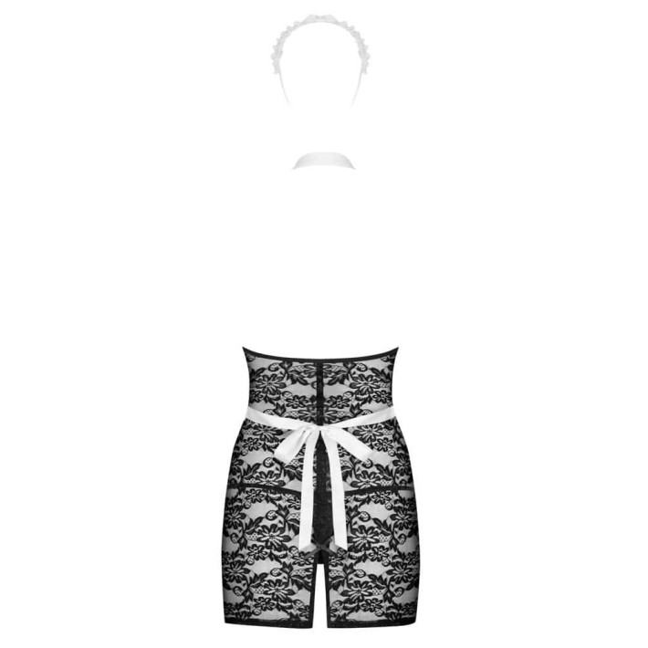 Costum Sexy Servgirl - Negru L/xl, S-m
