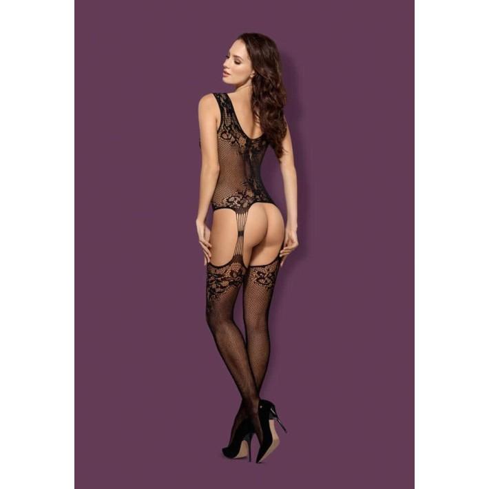 Catsuit / Body Stockings F221 - Negru S/m/l, Xl/2xl