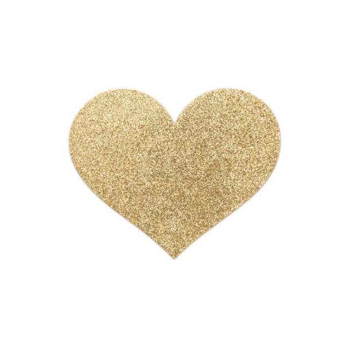 Bijuterii Intime Adezive Flash Heart, Auriu