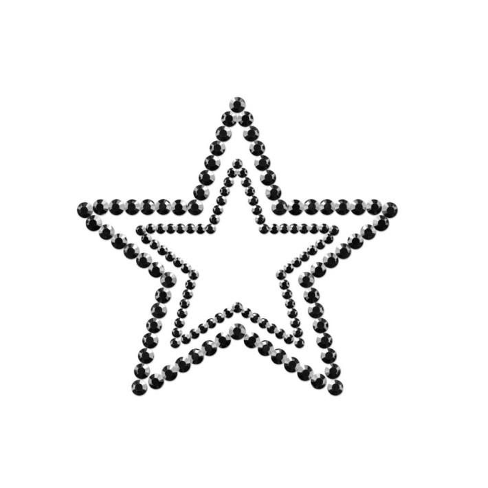 Bijuterii Intime Adezive Mimi Star  Neagra