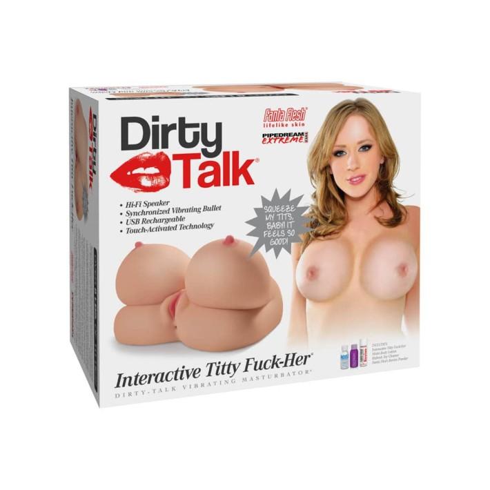 Masturbator 2-in-1 Cu Functie Audio Talk Interactive Titty Fuck-her