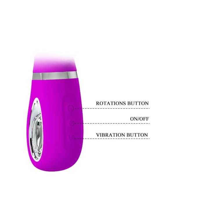 Vibrator Rabbit Cu Rotatii Ternence, Violet