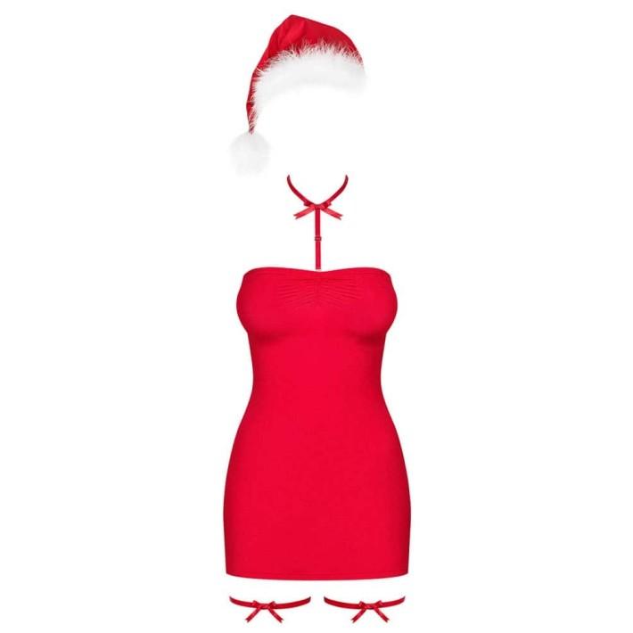 Costum De Craciunita Sexy Kissmas, Rosu, S/m
