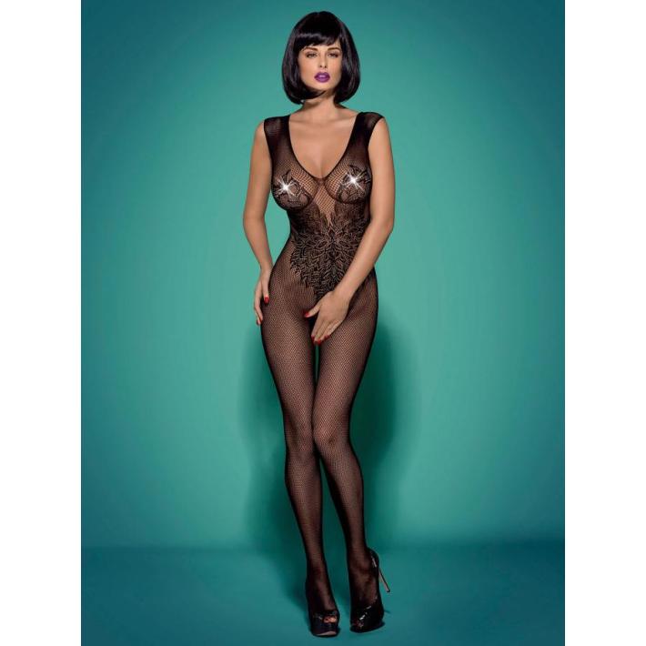 Catsuit / Body Stockings N112 - Negru S/m/l