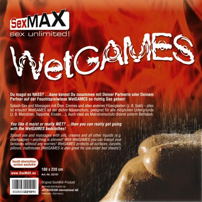 Cearsaf Impermeabil Pentru Jocuri Erotice Sexmax Wetgames Sex-laken, Cu Elastic, Negru,  180 X 220 Cm