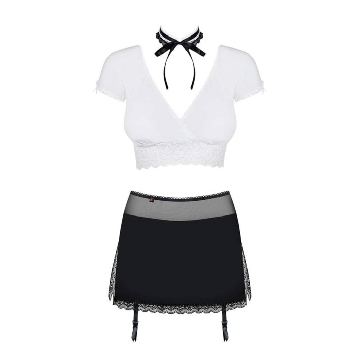 Costum Sexy Secretary Suit 5 Pcs - Negru L/xl, S-m