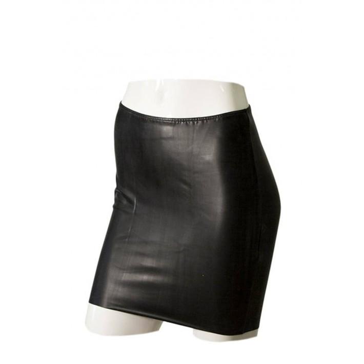 Fusta Mini Neagra Din Latex - Gp Datex Marimea  M