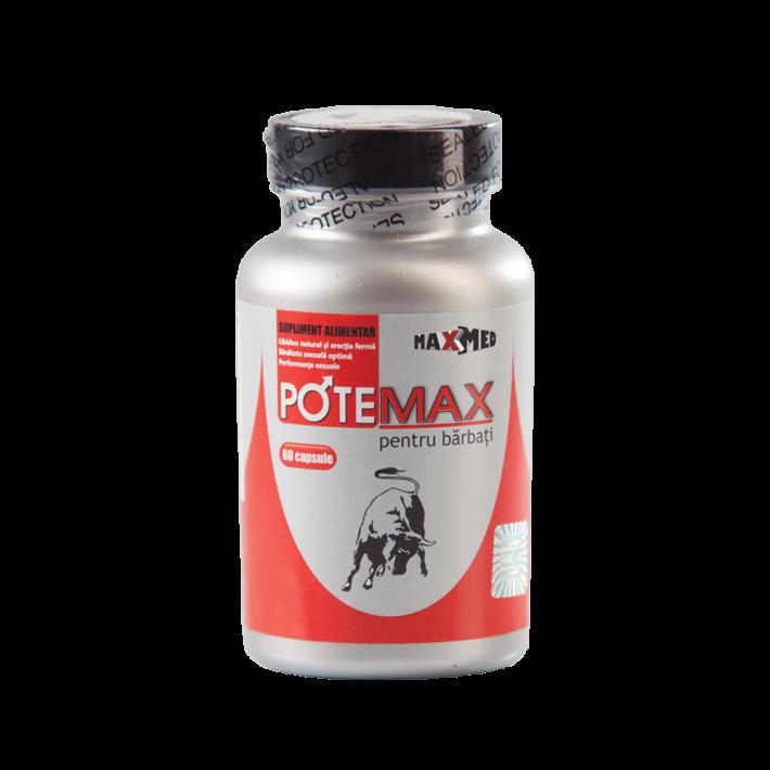 Potemax (60 Capsule) - Pastile Pentru Erectii Puternice Si De Lunga Durata