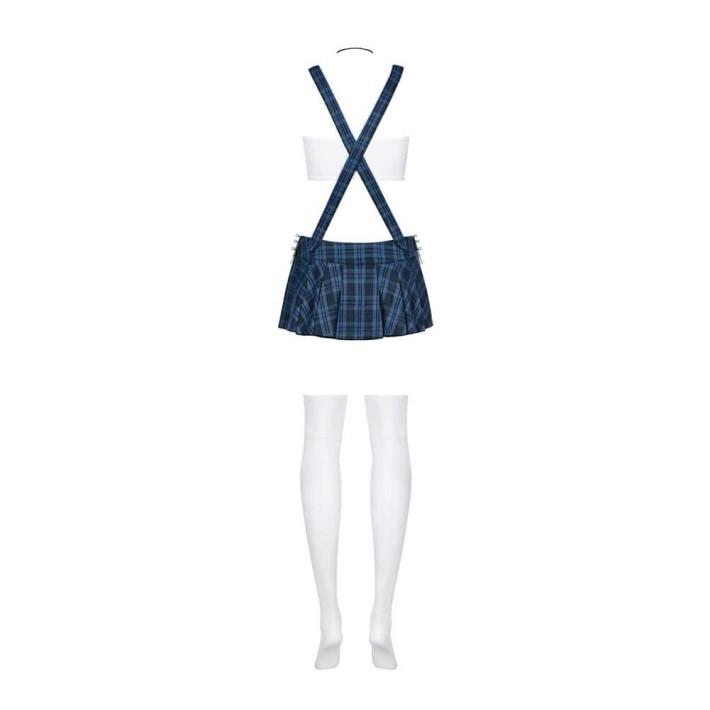 Costum Scolarita Sexy, Albastru, S/m