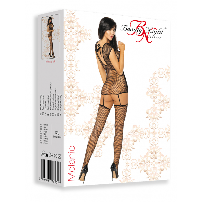 Catsuit / Body Stockings Melanie - Negru, S/l