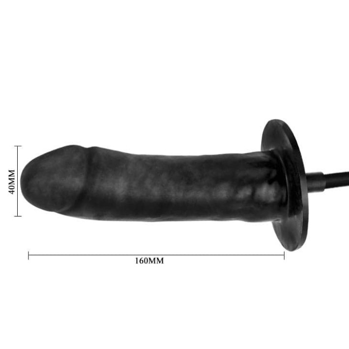 Dildo Gonflabil Bigger Joy, Negru, 16 Cm
