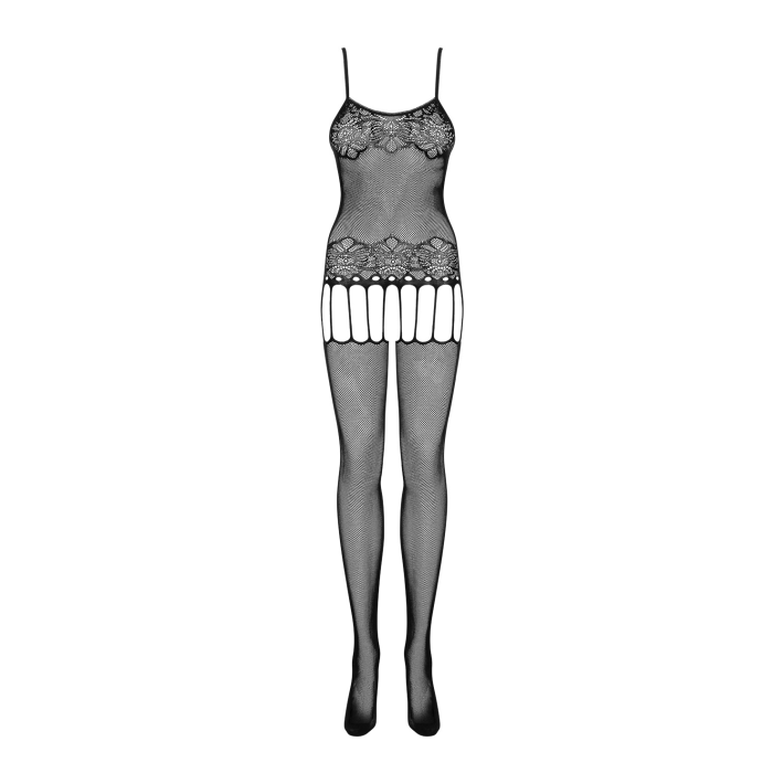 Catsuit / Body Stockings F235 - Negru, S/l