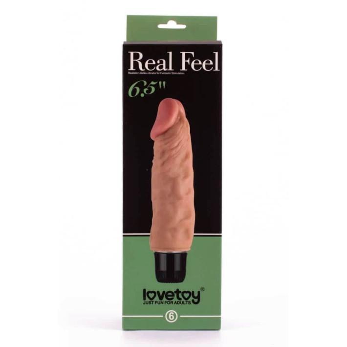 Vibrator Real Feel Cyberskin, Natural, 17.5 Cm