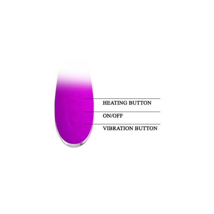 Vibrator Rabbit Cu Functie De Incalzire Wilbur, Violet, 20.5 Cm