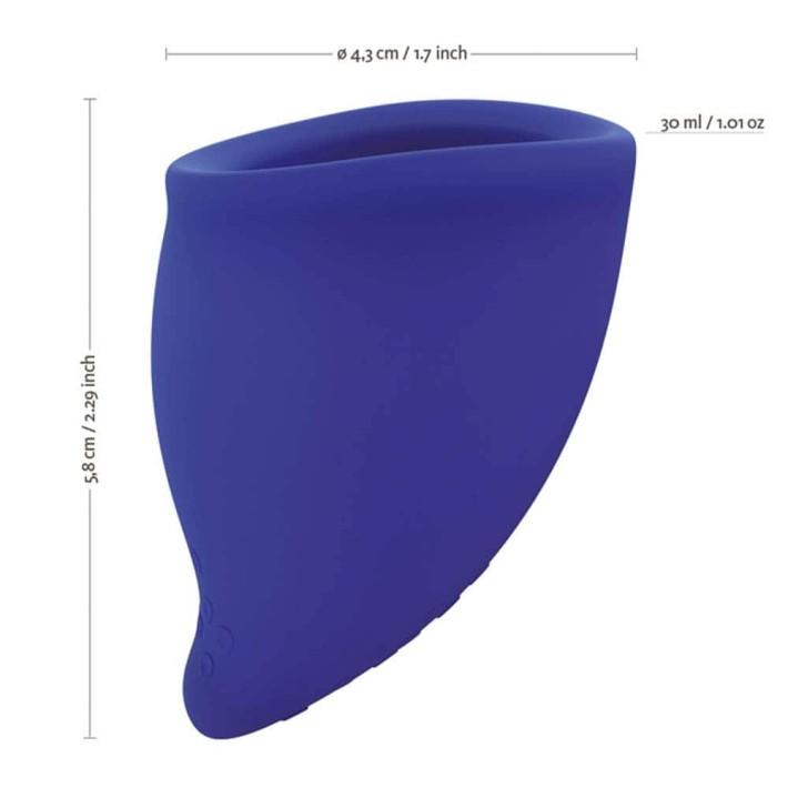Cupa Menstruala Fun Cup, Marimea A, Albastru