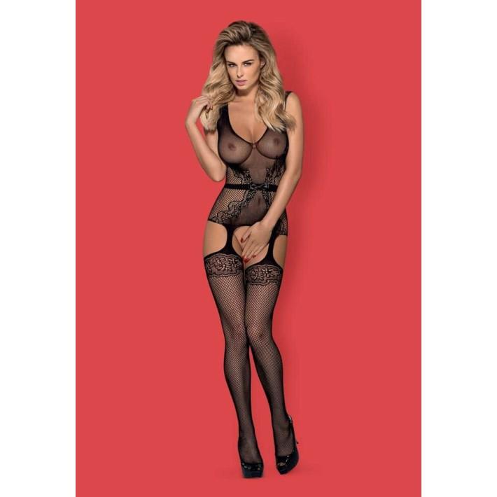 Catsuit / Body Stockings F217 - Negru S/m/l