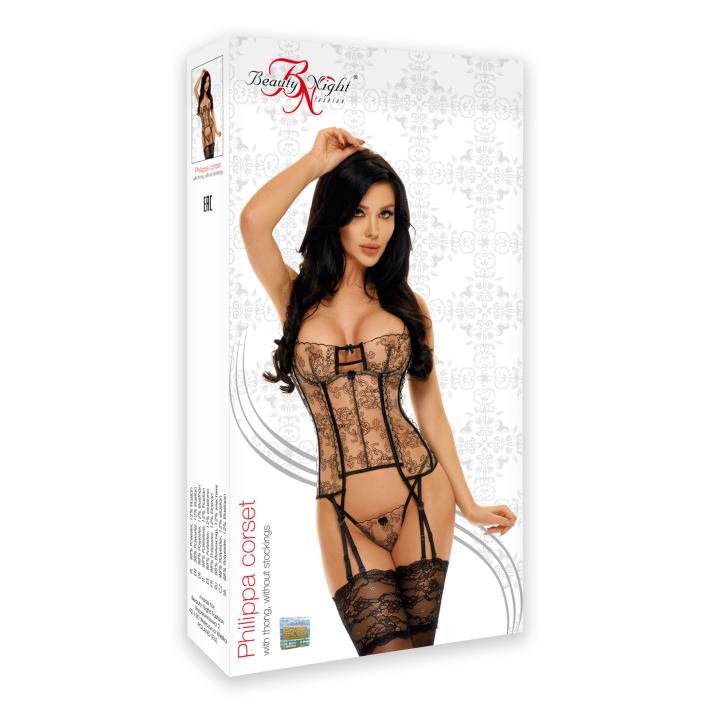 Corset Sexy Philippa - Negru L/xl