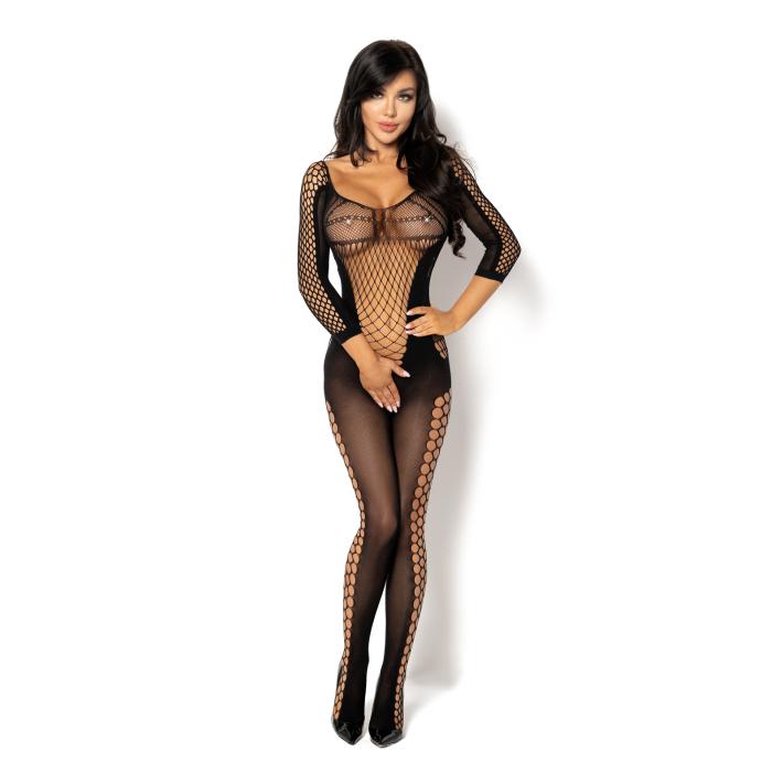 Catsuit / Body Stockings Lucelia Bodystocking - Negru, S/l