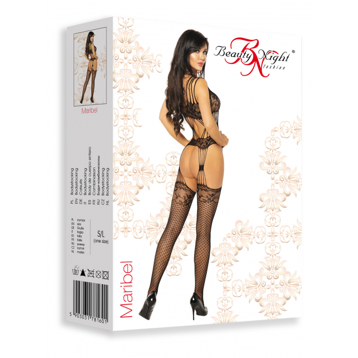 Catsuit / Body Stockings Maribel - Negru, S/l