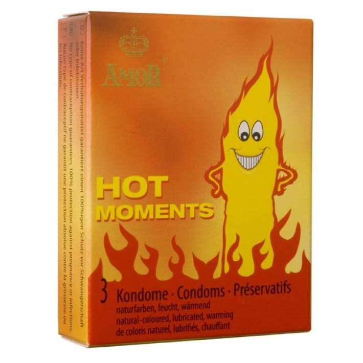 Prezervative Amor Hot Moments, 3 Buc.