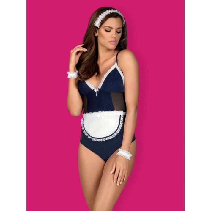 Costum Sexy Maid - Albastru L/xl, S-m