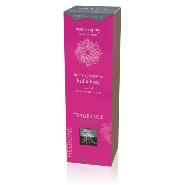 Spray Afrodisiac Bed & Body Pentru Femei, Cherry & Lotus Alb, 100 Ml