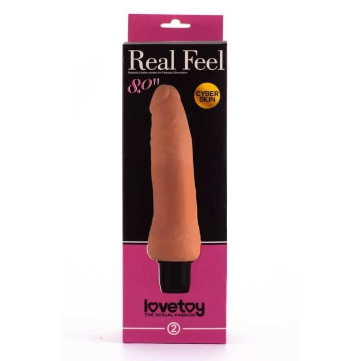 Vibrator Realistic Real Feel Cyberskin, Natural, 20 Cm