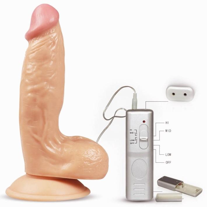 Vibrator Realistic Cu Ventuza Enduro Blaster, Natural, 19 Cm