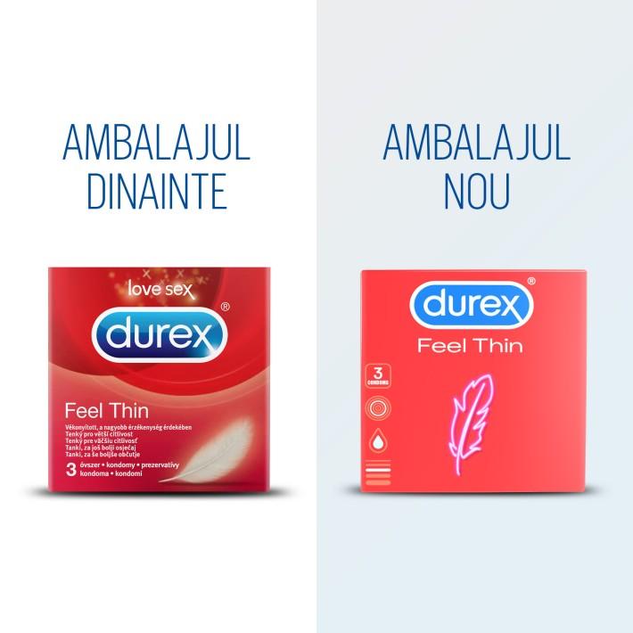 Prezervative Durex Feel Thin 3 Bucati