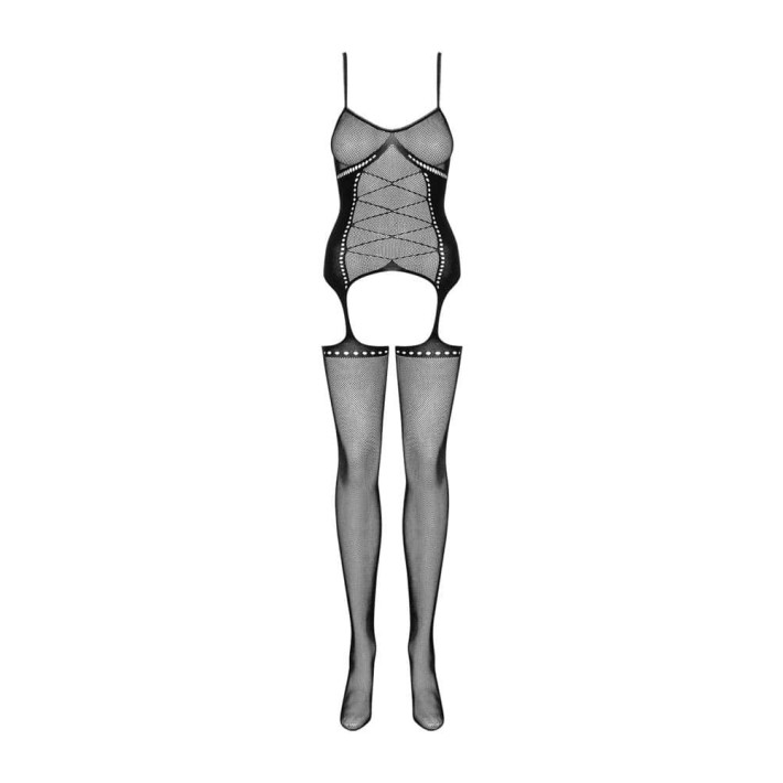 Catsuit / Body Stockings G314 - Negru, S/l