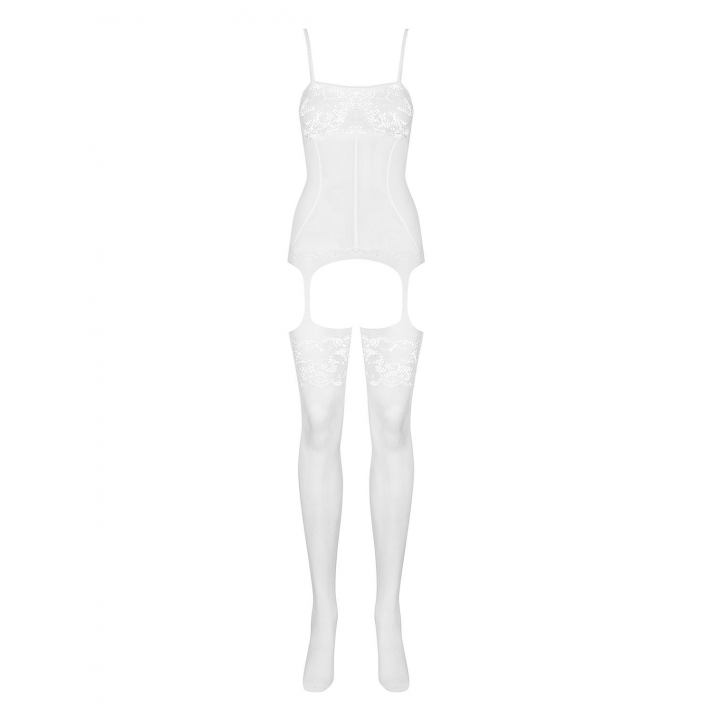 Catsuit / Body Stockings F204 - Alb S/m/l