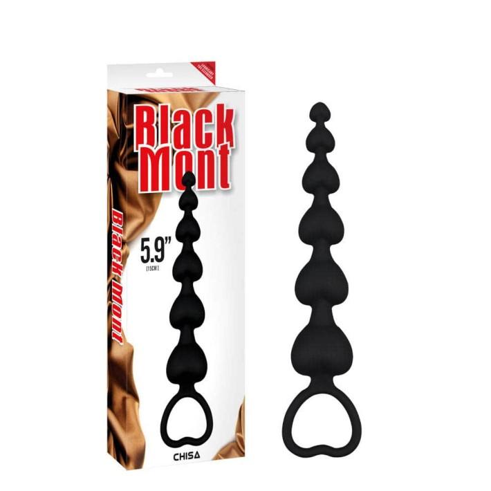 Bile Anale Elite Lovers Beads, Negru