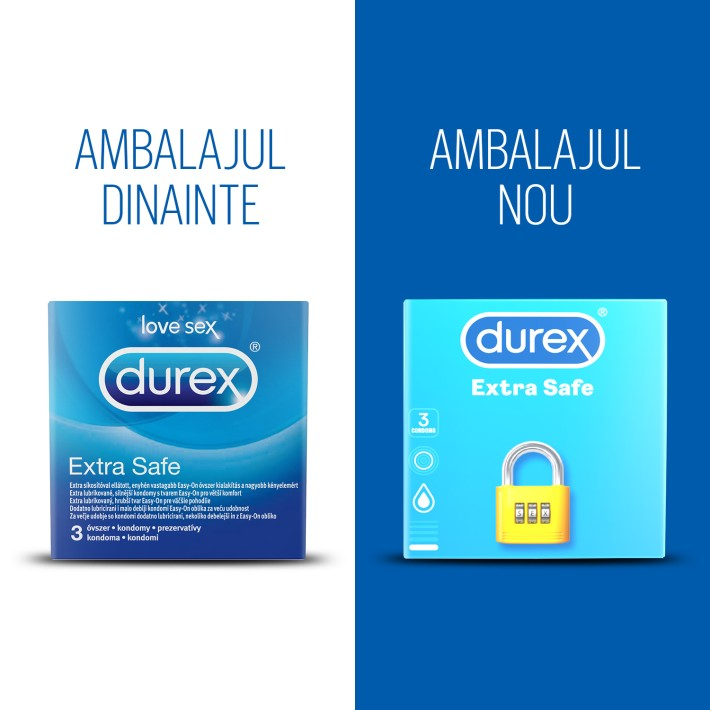 Prezervative Durex Extra Safe 3 Bucati