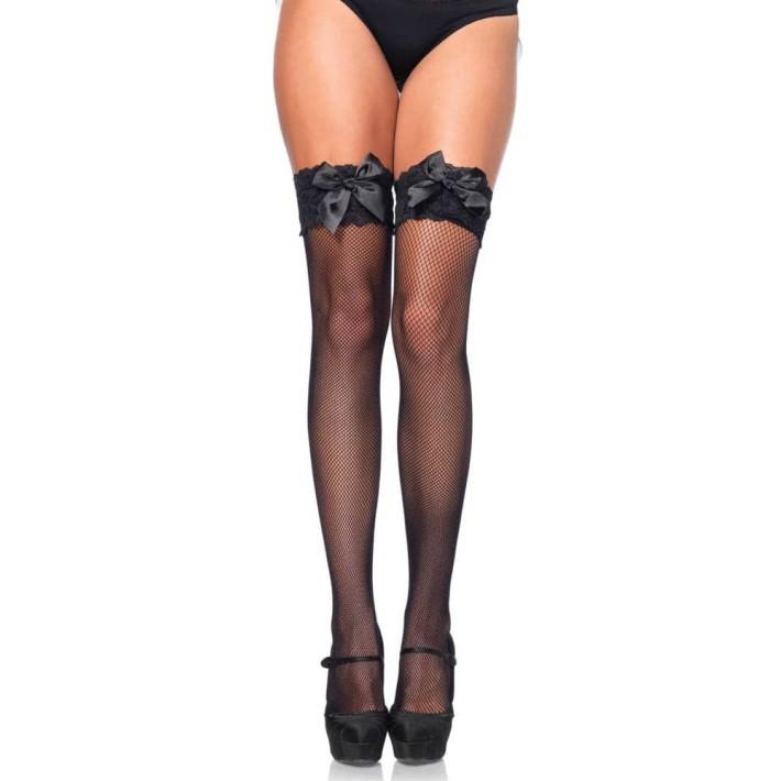 Ciorapi Sexy Tip Plasa Cu Dantela, Negru, Marime Universala