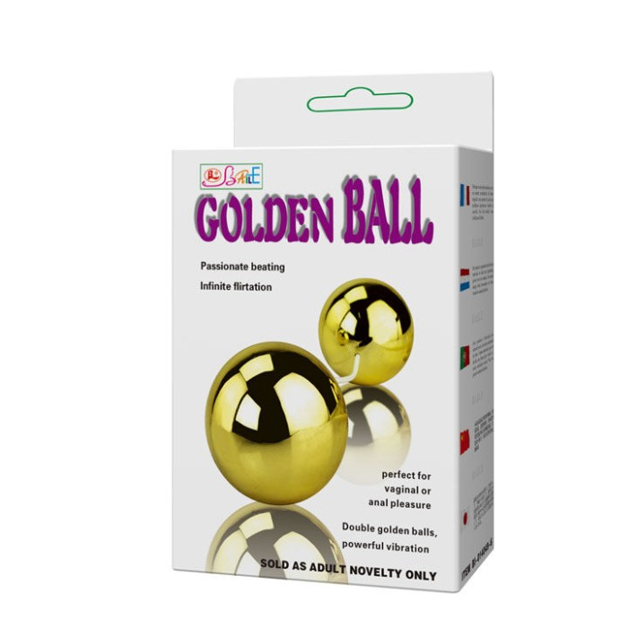 Bile Vaginale Cu Vibratii Golden Balls, Aurii