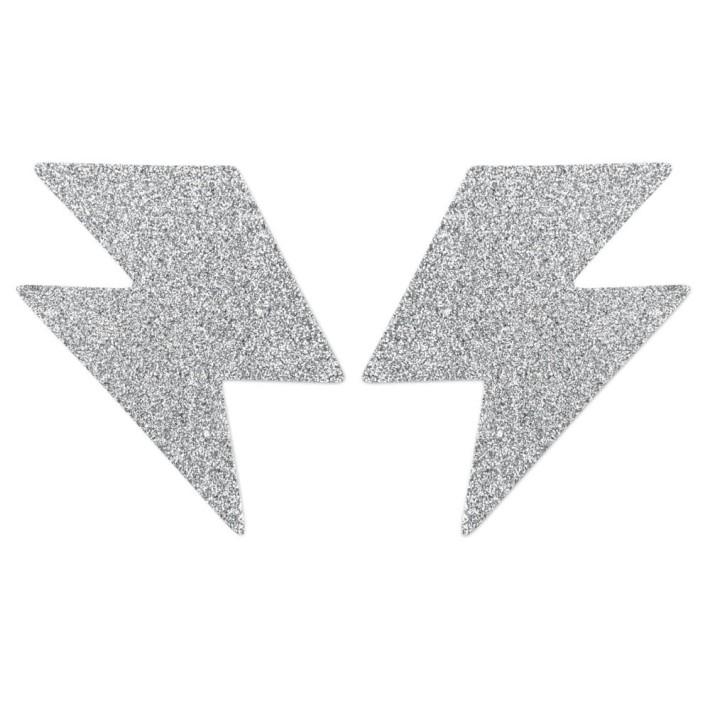 Bijuterii Intime Adezive Flash Bolt - Argintiu