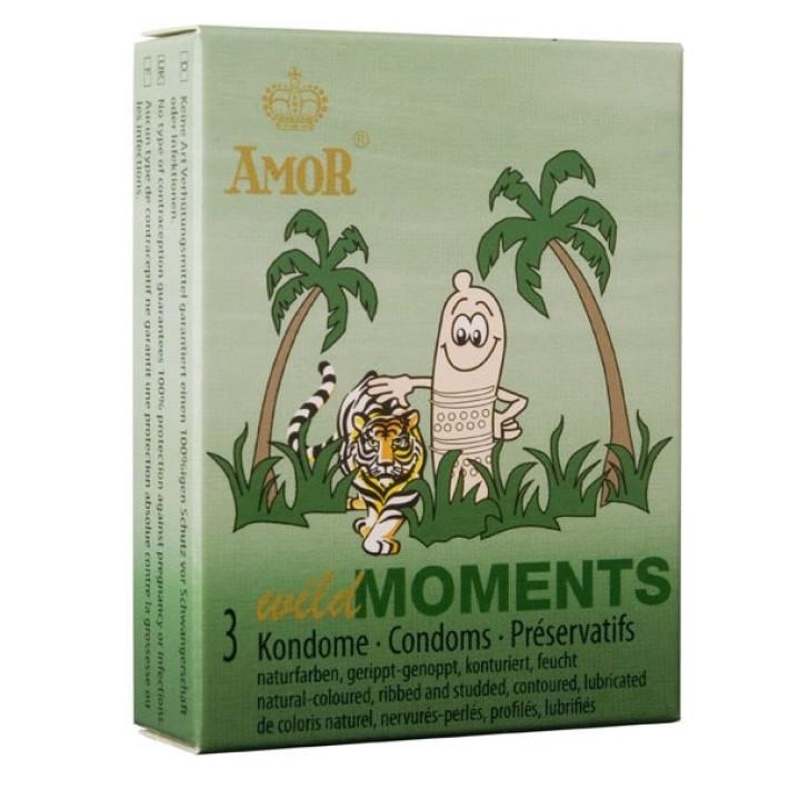Prezervative Amor Wild Moments, 3 Buc