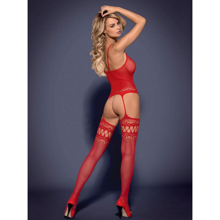 Catsuit / Body Stockings F214 - Rosu S/m/l