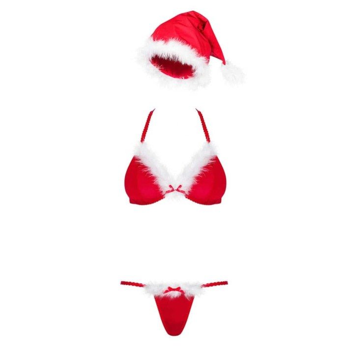 Costum Craciunita Sexy Santastic, Rosu, L/xl