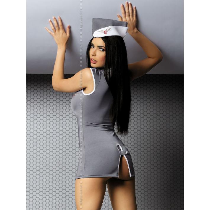 Costum Stewardesa Sexy, Gri, L/xl