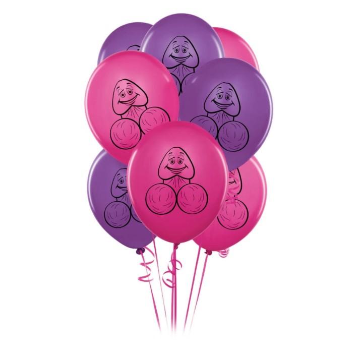 Accesorii Petreceri Pentru Adulti (baloane Cu Print Penis) 8 Bucati