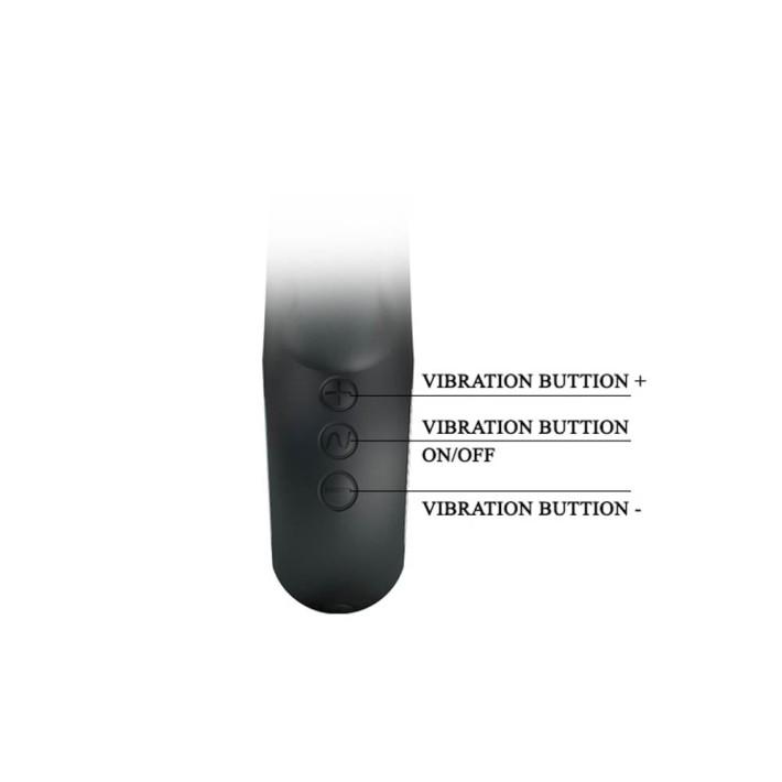 Vibrator Rabbit Carina, Negru, 15.8 Cm