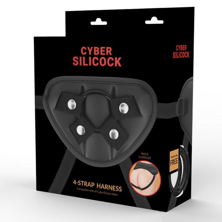 Ham Pentru Strap-on Cu 3 Inele Cyber Silicock