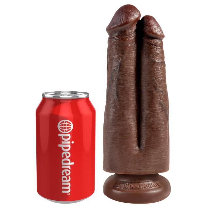 Dildo Realistic King Cock 2-in-1, Natural, 17 Cm